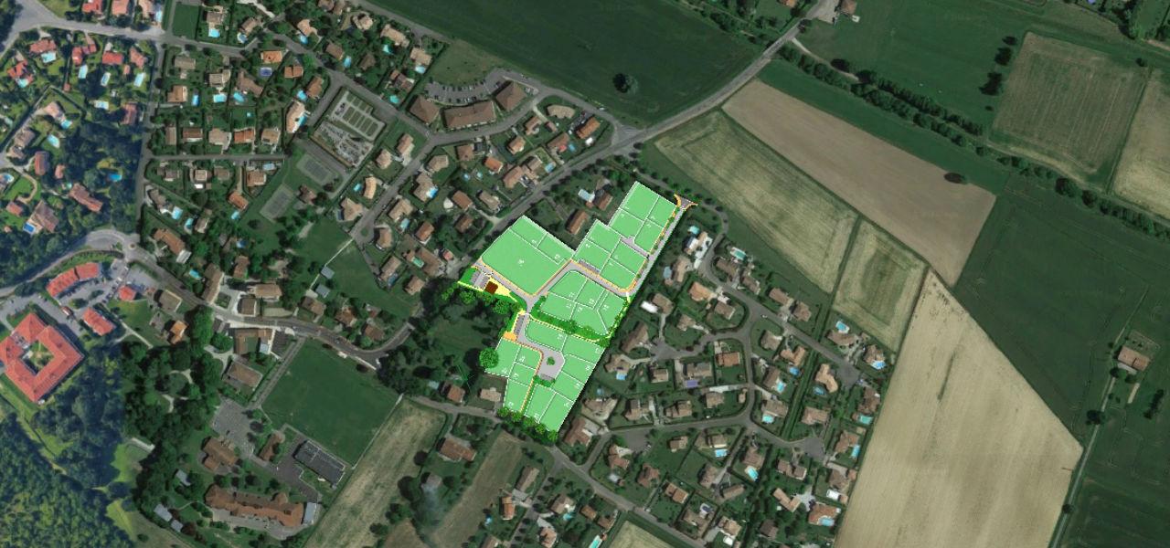 Terrain à vendre à Sainte-Foy-d'Aigrefeuille - Le clos de Labourdette